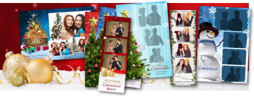 Photo booth template category for Christmas & holiday layouts and designs.