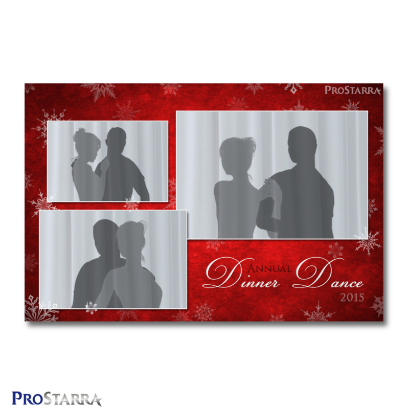 canvas of snowflakes 4 6 inch photo booth template