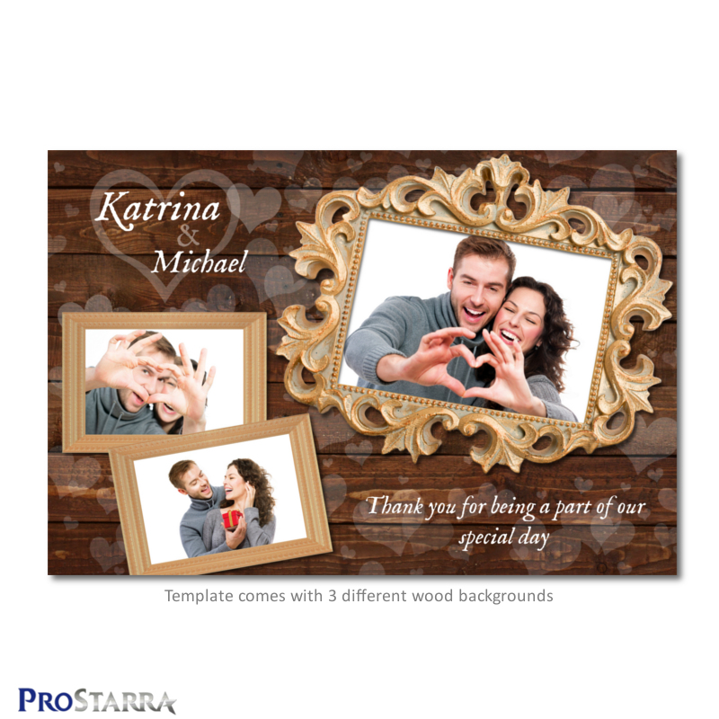 6x4 postcard template - chic meets rustic love 6x4 inch photo booth wedding