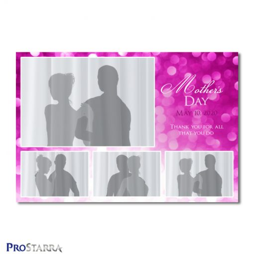 A 4 photo photobooth template layout for an elegant, classy event for woman, ladies, or girls in pink. This layout is themed for Mother's Day.