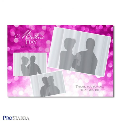 A photobooth template layout for an elegant, classy event for woman, ladies, or girls in pink. This layout is themed for Mother's Day.