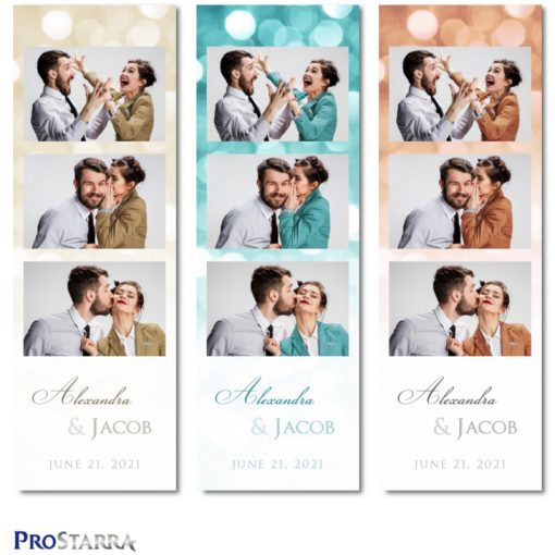 3 photo classy photo booth photostrips for beautiful weddings and celebrations.