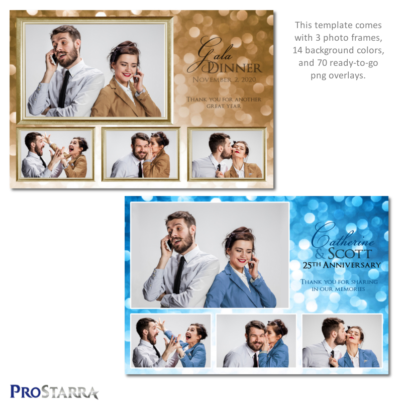Shimmering Celebration 4 Photos 6 4 Inch Wedding Anniversary Special Event Photo Booth Template Layout