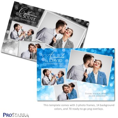 A photobooth template layout for a celebration, anniversery, or wedding.