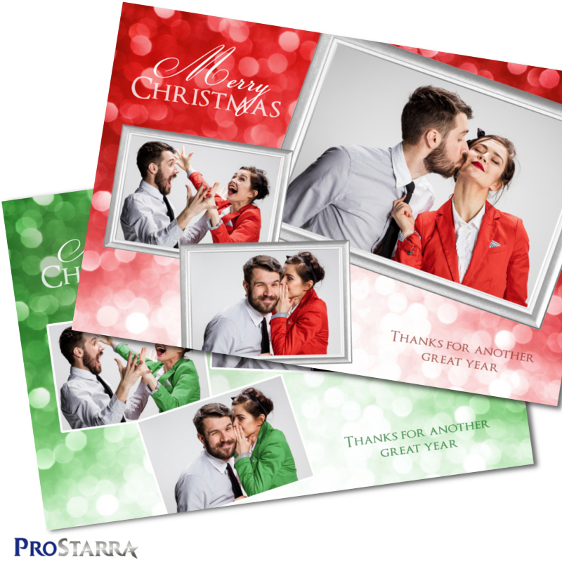 A photobooth template layout for a classy christmas party or corporate event in red or green.