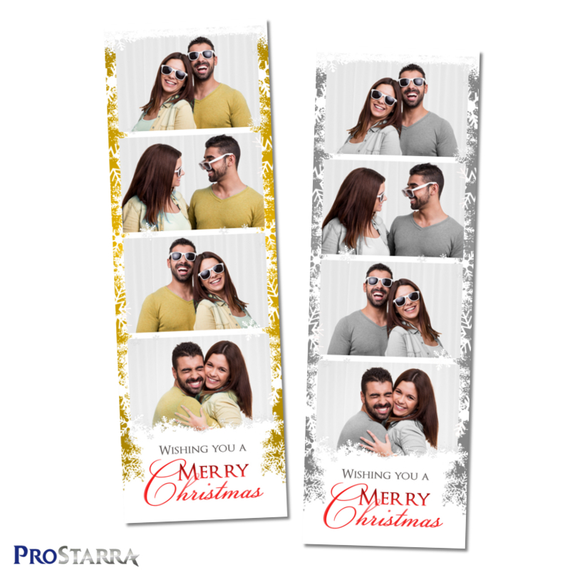 Column Of Snowflakes 26 Inch Photo Booth Photo Strip Template