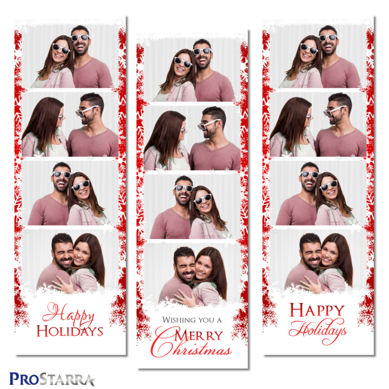 Column Of Snowflakes 2 6 Inch Photo Booth Photo Strip Template